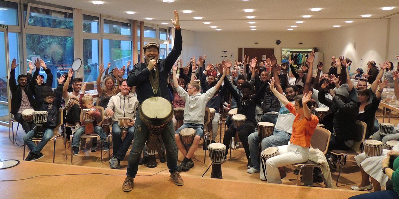 Trommel Workshop AK Asyl Remseck
